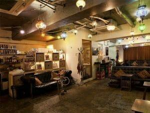 渋谷のシーシャカフェ、チルイン渋谷の店内画像