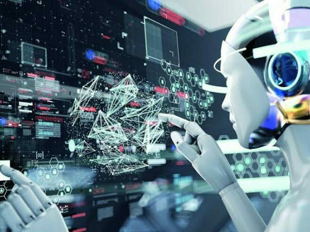 社員の代わりに働くAIロボットのイメージ