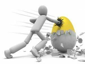 インフルエンサーと戦うイメージ