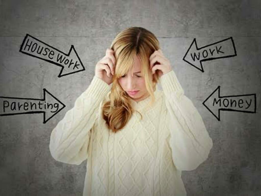 ストレスでメンタルを病む女性社員