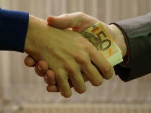 賄賂のイメージ