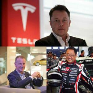トヨタ・テスラ・VWの経営者