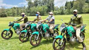 国連から提供された電動バイク