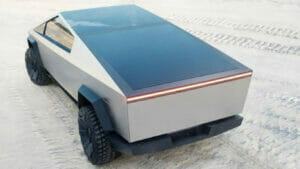 太陽光パネル搭載のサイバートラック