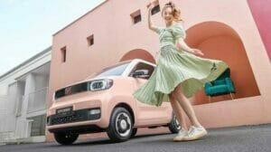 「Wuling HongGuang Mini EV」の広告