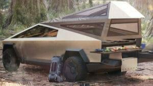 キャンプ仕様のサイバートラック