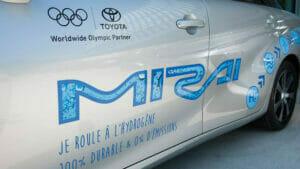 トヨタ「ミライ」のオリンピック塗装